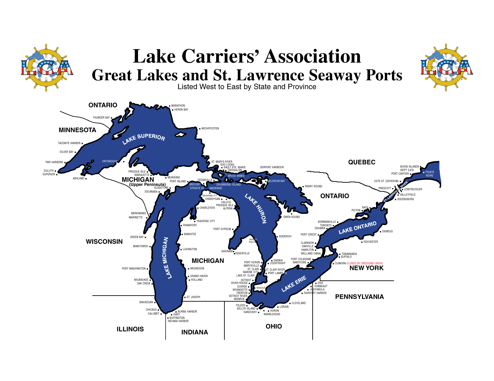 Great Lakes Cams - Chicago map lake michigan